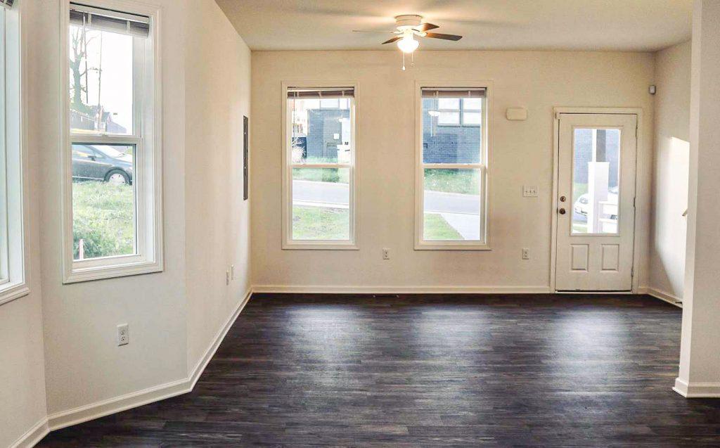 Open light in living room